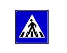 segnale di attraversamento pedonale