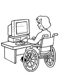 Disabile al pc