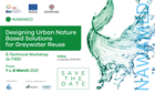 "Brochure Workshop Tecnico ""Designing urban nature-based solutions for greywater reuse"""