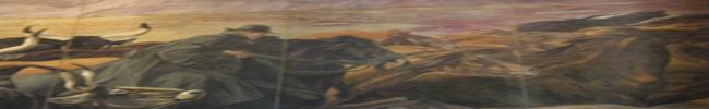 Particolare del dipinto di Duilio Cambellotti