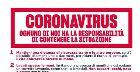 manifesto delle misure contro il coronavirus