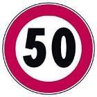 Cartello stradale limite velocità 50 km/h
