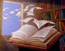 libro con pagine che volano