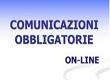 Comunicazioni obbligatorie on line