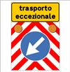 immagine di segnaletica di trasporti eccezionali