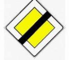 Cartello stradale fine diritto di precedenza