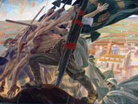 L'immagine è l'opera di Duilio Cambelloti presente nella sala delle adunanze
