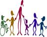 Immagine stilizzata di soggetti con disabilità