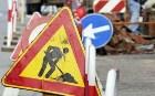 segnali di lavori in corso e di senso unico